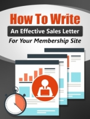 How to Write An Effective Membership Sales Letter - PLRHow to Write An Effective Membership Sales Letter - PLR